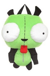 OFFICIAL GIR BIG EYES DOG ALIEN ROBOT CLASSIC PLUSH BACKPACK BAG NWT