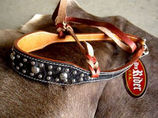 NOSEBAND BARREL RACING TIE DOWN STRAP BLACK PYTHON TACK LATIGO STRAP