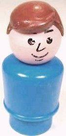 FISHER PRICE LITTLE PEOPLE DOLLHOUSE BLUE PLASTIC DAD MAN DOLL FIGURE