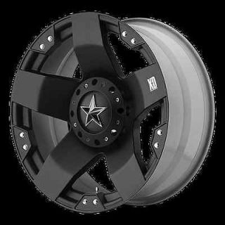 20 X 8.5 ROCKSTAR BLACK RIMS W/ 35X12.50X20 TOYO OPEN COUNTRY MT
