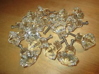 24 Star shaped crystal glass cabinet knobs, pulls cabinet hardware
