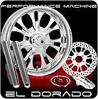 CHROME PERFORMANCE MACHINE EL DORADO WHEELS SINGLE DISK KIT HARLEY FLH