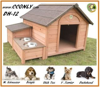 DH 12 DOG HOUSE Outdoor Wooden Pet Dog House Animal Home Kennel
