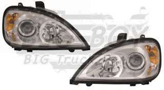 Freightliner Columbia Chrome Projector Set Headlights / Headlamps 1996