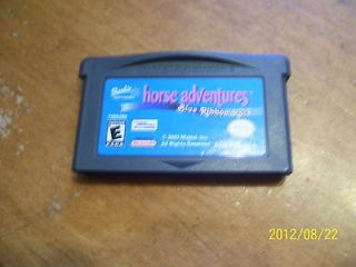 GAME BOY ADVANCE BARBIE HORSE ADVENTURES BLUE RIBBON RACE GAME