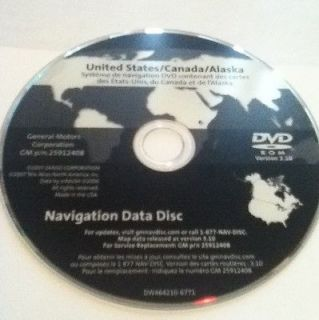 GM Navigation Map Disc DVD 25912408
