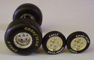 Goodyear Eagle Drag Slicks 2 Front Tires 4 Race Wheels 124 Car