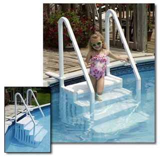Above Ground Easy Entry Pool Step Swimming Pool Durable  Up to 54
