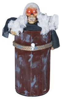 Animated Ghost in Trash Can Light Up Halloween Prop Decor Decoration