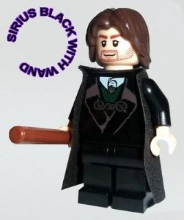 Lego HARRY POTTER Minifigure   SIRIUS BLACK WITH WAND