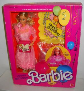 Mattel Vintage Department Store Happy Birthday Party Barbie Giftset