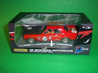 Pioneer 1/32 1968 Red Ford Mustang Notchback P039