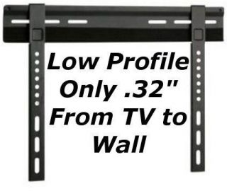 Ultra Slim Low Profile Fixed VESA TV LCD LED Plasma Wall Mount Bracket