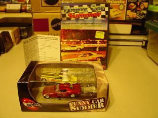 HOT WHEELS 1972 FUNNY CAR SUMMER BARRACUDA CHARGER + DVD DRAGSTER