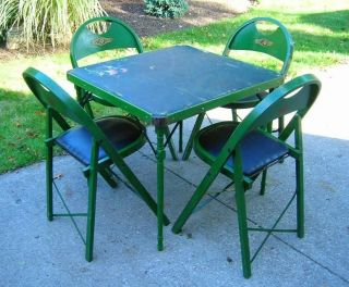 30s RASTETTER NAPPANEE ART DECO Kumfort TABLE CHAIRS SET BOUQUET SHIP
