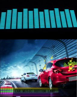Sound music Activated Car Stickers Equalizer Glow Blue Light 80*19cm