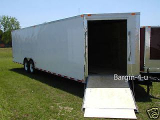 5x24 8.5 X 24 Snowmobile Enclosed Carhauler Cargo Trailer w/ Ramps