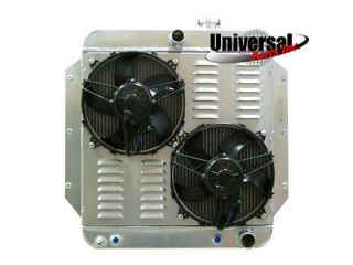 59 CHEVY TRUCK ALUMINUM REPLACEMENT RADIATOR WITH SPAL FANS 30102022
