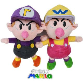 Nintendo Stuffed Animal 2X Baby Super Mario Plush Toy Wario Waluigi