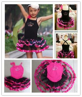 New Girls Ballet Costume Tutu Skirt Gymnastics Leotard Dance Dress SZ