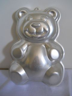 VINTAGE WILTON CAKE PAN TEDDY PANDA BEAR 2105 9402 1986 JELLO MOLD