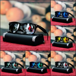 NEW MENS RETRO SUNGLASSES BLACK SILVER MIRROR LENS SHUFFLER TRENDY