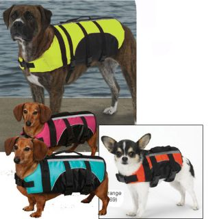 Gear Aquatic Pet Dog Life Preserver Safety Vest Jacket ALL SIZES NEW