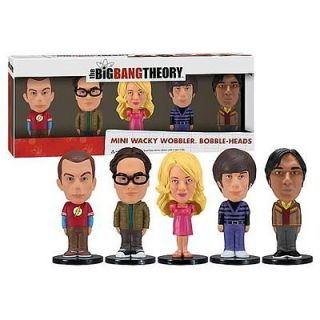 Big Bang Theory Mini Bobblehead Set of 5 New in Hand