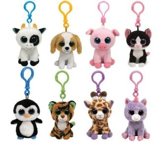 BOOS BOO ~ CHOOSE YOUR 2 KEY CLIP ON CHARACTER SOFT PLUSH TOY ***NEW