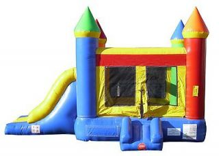Inflatable Rainbow Castle Bounce House Slide Combo Jump Tentandtable