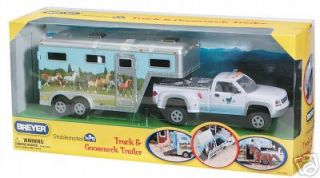 NEW BREYER STABLEMATES *5350* TRUCK & HORSE TRAILER