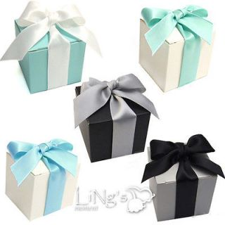 50 pieces 2x2x2 Wedding Party Baby Shower Favor Gift Candy Boxes