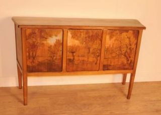 French Antique Arts and Craft Cabinet Sideboard Credenza Server