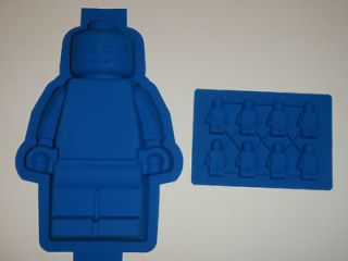 Set of 2 LEGO MINIFIGURE CAKE PAN JELLO CANDY ICE MOLD SUPER FAST US