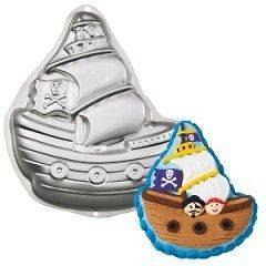 Pirate Ship Haunted Witches Hat Shaped Novelty Birthday Party Cake Pan