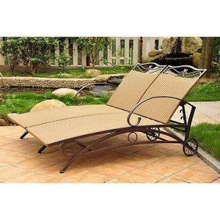 Valencia Outdoor Wicker Multi Position Double Chaise Lounge 4111 DBL