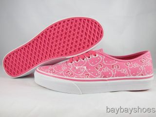 VANS AUTHENTIC HELLO KITTY PINK/TRUE WHITE CLASSIC SKATE MENS ALL