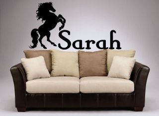big Horse personalized name sticker bedroom, horse trailer UP TO 175CM