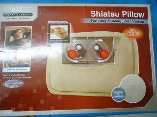 NEW, HOMEDICS Therapist Shiatsu Pillow Rotating Massage w/ HEAT, Model