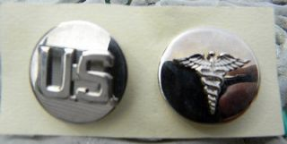 Army military Medical Corps set enlisted collar rank military