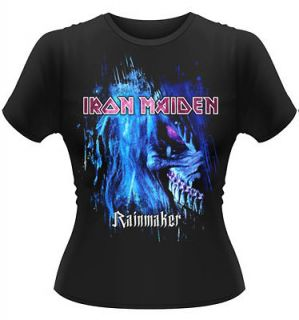IRON MAIDEN Rainmaker Womens GIRLIE BABY DOLL Ladies SHIRT S M L XL