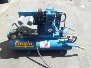 Emglo KU Portable Air Compressor 2 Tanks with Cart Jenny