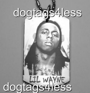 LIL WAYNE Dog Tag HIP HOP DogTag Necklace FREE Chain 12