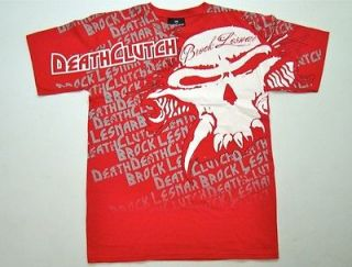 DEATHCLUTCH RED MEN T SHIRT FADED TEE X LARGE BROCK LESNAR TSHIRT UFC