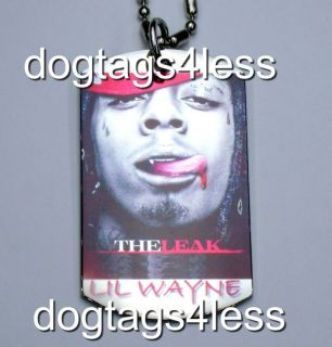 LIL WAYNE Dog Tag HIP HOP DogTag Necklace FREE Chain 1