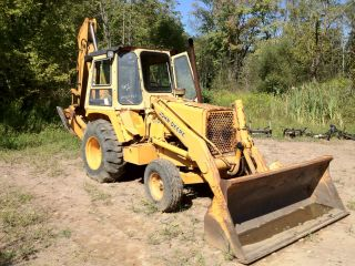 1990 John Deere 310C Loader Backhoe, Low Hours , US GOV Previous Owner