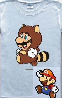 NINTENDO Super Mario Cartoon Classic 2Style Funny Game White T shirt