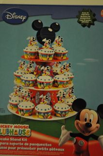 WILTON, DISNEY MICKEY MOUSE, CUPCAKE STAND KIT, BABY BIRTHDAY PARTY
