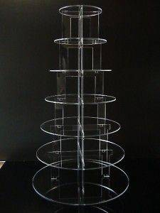 TIER CIRCLE ACRYLIC CUPCAKE PARTY WEDDING CAKE STAND