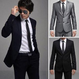 New Mens Fashion Stylish Slim Fit Two Buttons Suit XZ19 21
